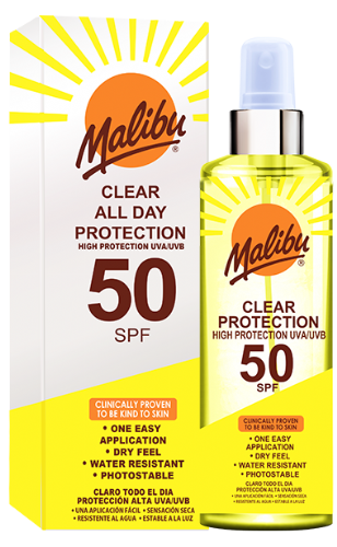 SPF50 Clear Protection Spray